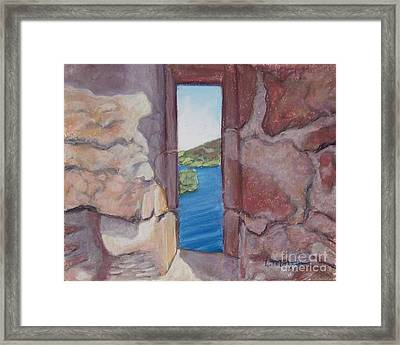 Archers' Window Urquhart Ruins Loch Ness Framed Print