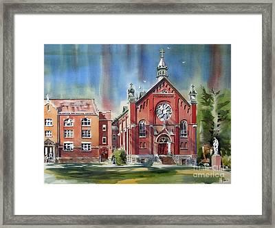 Ursuline Academy With Doves Framed Print by Kip DeVore
