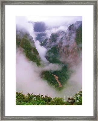 Urubamba River Framed Print