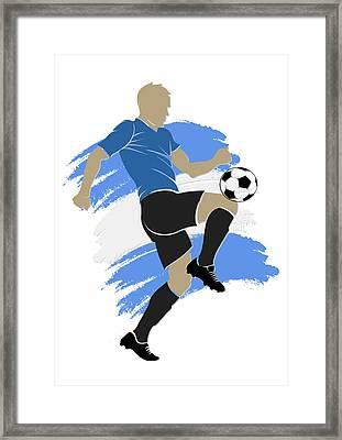 Uruguay Soccer Player Framed Print