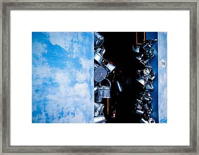 Uruguayan Tin  Framed Print by Cecil K Brissette