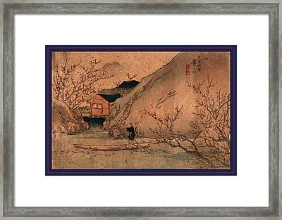 Uryo Togen, Peach Orchard At Wuling. Between 1830 And 1844 Framed Print by Eisen, Keisai (ikeda Yoshinobu) (1790-1848), Japanese