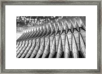 Us Air Force Academy Chapel Colorado Springs Framed Print by Geraldine Alexander