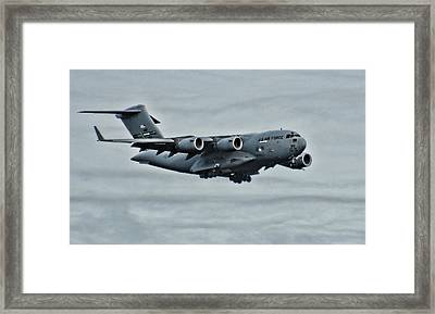 Us Air Force C17 Framed Print