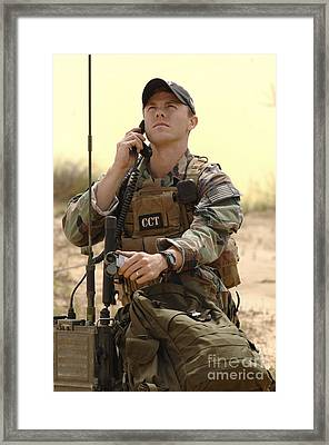 U.s. Air Force Combat Controller Framed Print by Stocktrek Images