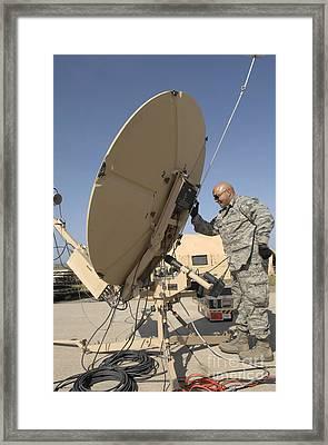 U.s. Air Force Staff Sergeant Assembles Framed Print by Stocktrek Images