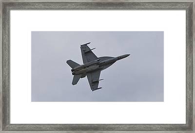 Us Airforce F-18 Super Hornet Framed Print