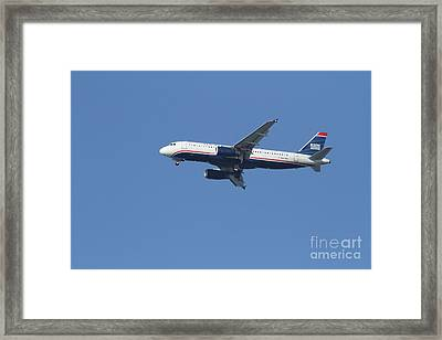 Us Airways Jet 7d21945 Framed Print by Wingsdomain Art and Photography