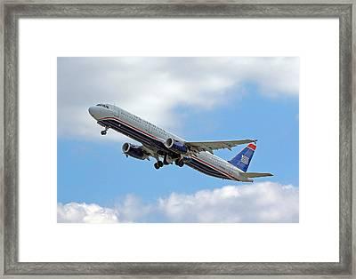Us Airways Framed Print by Joseph C Hinson Photography