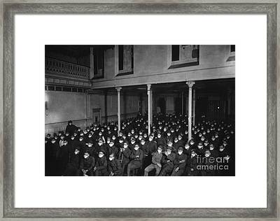 Us Army, 1918 Influenza Pandemic Framed Print by National Library Of Medicine