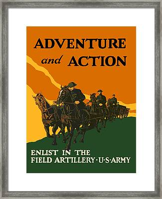 U.s. Army - Action And Adventure Framed Print