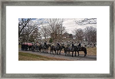 Us Army Caisson At Arlington National Cemetery Framed Print