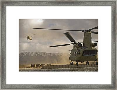 U.s. Army Ch-47 Chinook Helicopters Framed Print