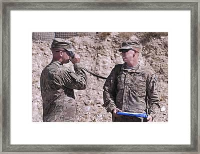 U.s. Army Chief Receives Coordinates Framed Print