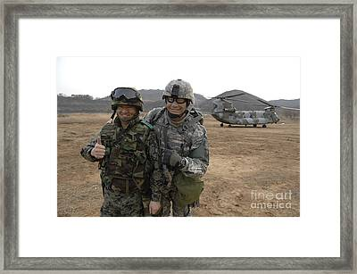 U.s. Army Commander, Right Framed Print by Stocktrek Images