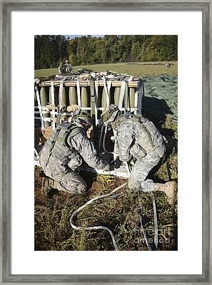 U.s. Army Europe Soldiers Perform Framed Print by Stocktrek Images