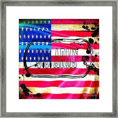 U.s. Army Flag Framed Print