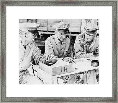 U.s. Army Ground And Air Generals Framed Print