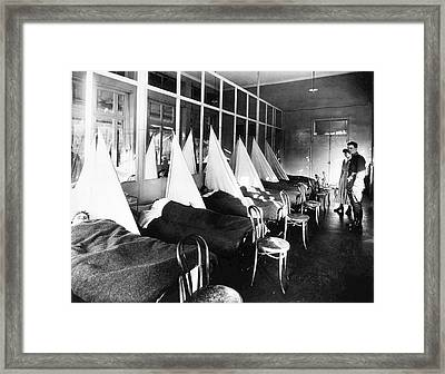Us Army Influenza Ward Framed Print by National Library Of Medicine