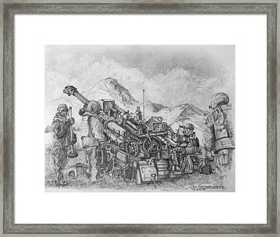 Us Army M-777 Howitzer Framed Print