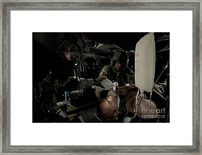 U.s. Army Medics Simulating Ventilation Framed Print by Terry Moore