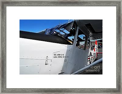 Us Army O-1e Observation Bird Dog Framed Print