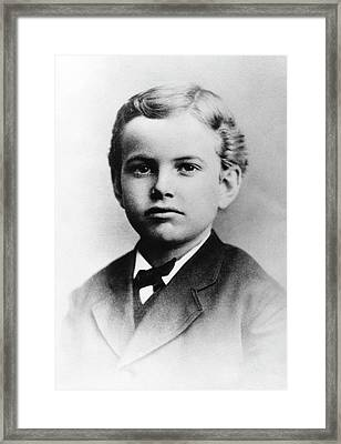 Us Astronomer George Hale As A Boy Framed Print by Emilio Segre Visual Archives/american Institute Of Physics