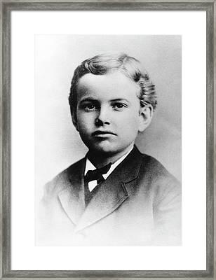 Us Astronomer George Hale As A Boy Framed Print