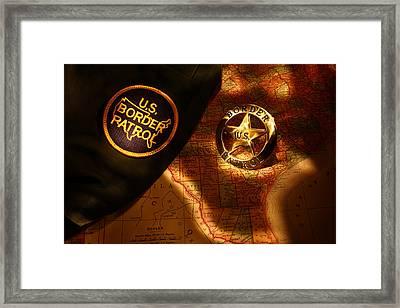 Us Border Patrol Framed Print by Daniel Alcocer
