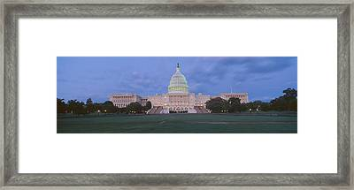 Us Capitol Building At Dusk, Washington Framed Print