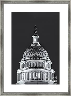 Us Capitol Dome At Night II Framed Print