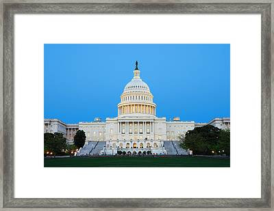 Us Capitol In Washington Dc. Framed Print