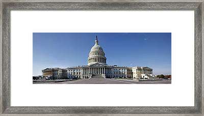 Us Capitol Panorama Framed Print