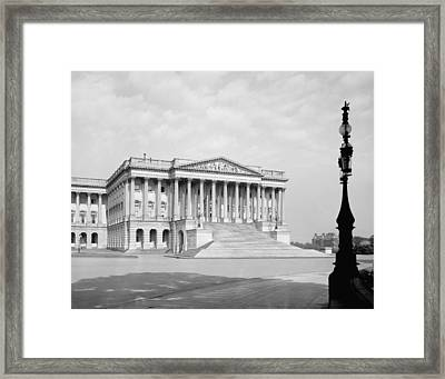 Us Capitol. Senate Wing Of United Framed Print by Everett