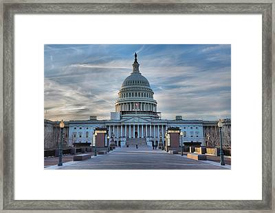 U.s. Capitol Framed Print by Steven Ainsworth