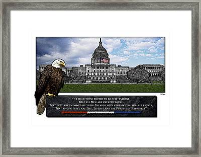 Us Capitol With Eagle Framed Print by Rose Borisow