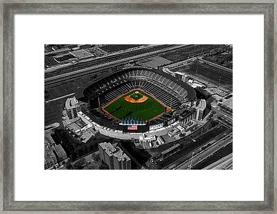 Us Cellular Field Chicago Sports 08 Selective Coloring Digital Art Framed Print by Thomas Woolworth