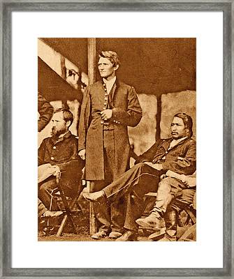 Us Civil War Union Officers Framed Print by American Philosophical Society
