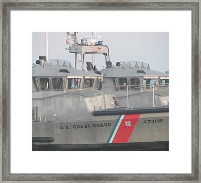 Us Coast Guard Boat Framed Print