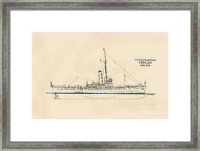 U. S. Coast Guard Cutter Chelan Framed Print by Jerry McElroy - Public Domain Image