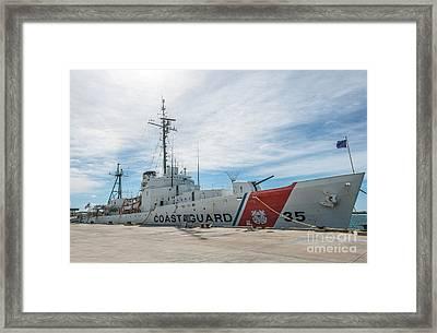 Us Coast Guard Cutter Ingham Whec-35 - Key West - Florida Framed Print by Ian Monk