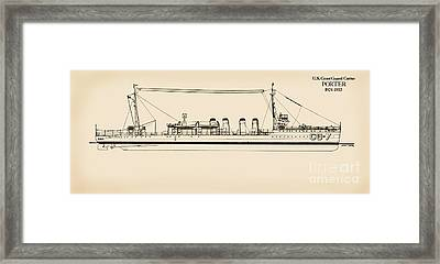 U. S. Coast Guard Cutter Porter Framed Print by Jerry McElroy - Public Domain Image