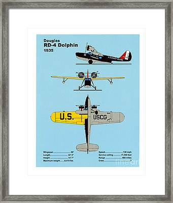 Coast Guard Douglas Rd-4 Dolphin Framed Print by Jerry McElroy - Public Domain Image