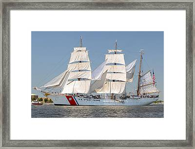 Us Coast Guard Eagle Framed Print