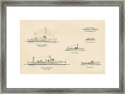 U. S. Coast Guard Patrol Boats Of The Prohibition Era Framed Print