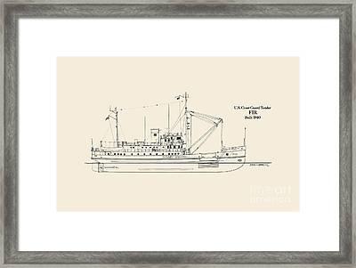 U S  Coast Guard Tender Fir Framed Print