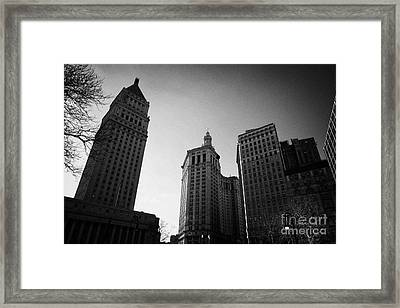 U.s. Courthouse Civic Center And Municipal Building Centre Street Foley Square New York City Framed Print by Joe Fox