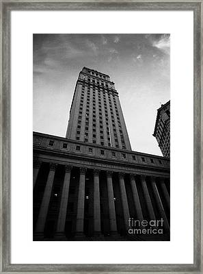 Us  Courthouse Civic Center Centre Street Foley Square New York Framed Print by Joe Fox