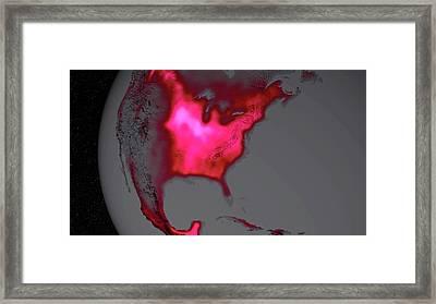 Us Crop Productivity Framed Print by Nasa/goddard Space Flight Center