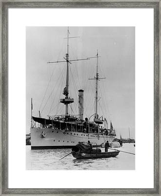 U.s. Cruiser Asheville In 1936 Framed Print by Retro Images Archive